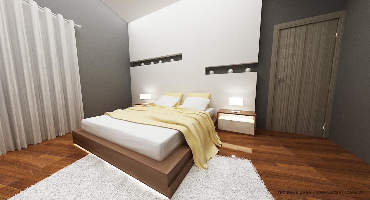 Dormitor matrimonial in culori calde