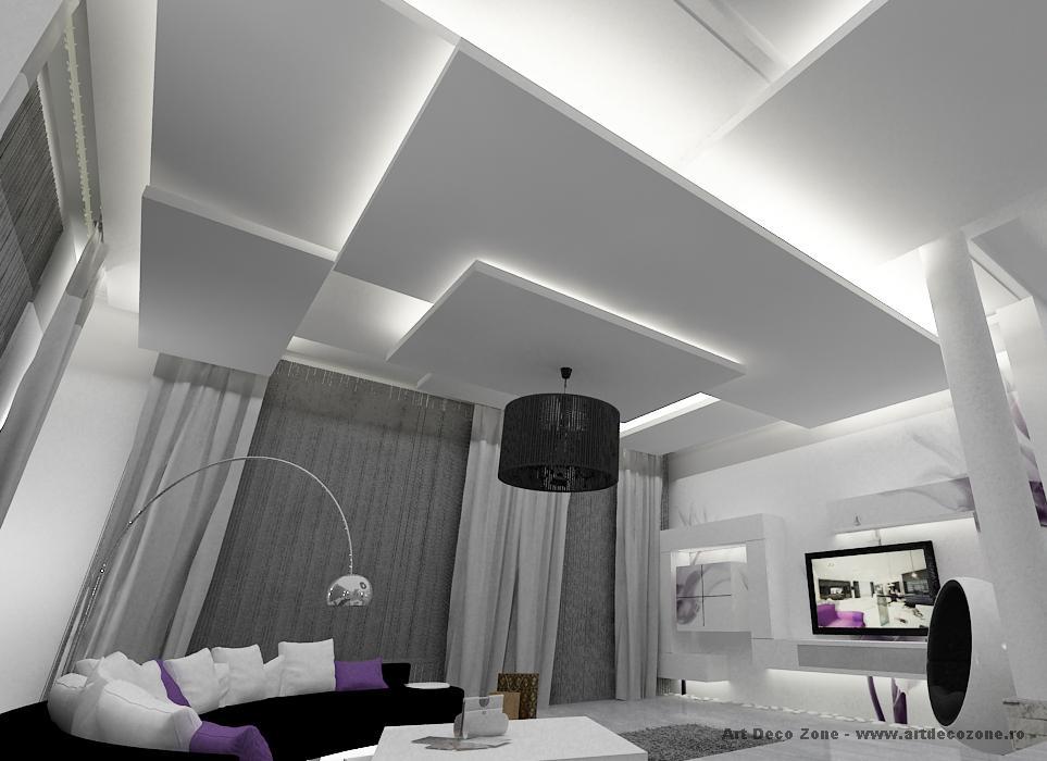 Design interior living canapea curba