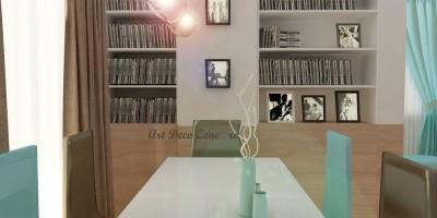 living turquoise design modern