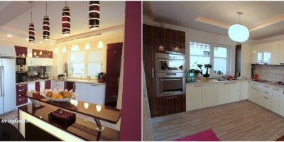 Comparativ amenajare case duplex in oglinda bucatarie