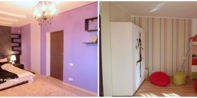 Comparatie amenajare case in oglinda / dormitor