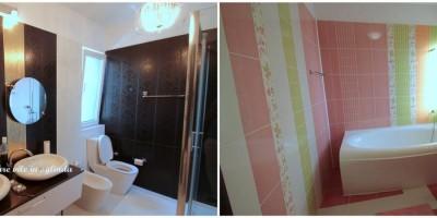 Comparatie amenajare case in oglinda / idei baie