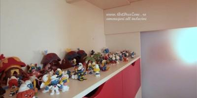 Depozitare Strumphi in camera copilului