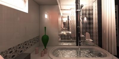 proiect design 3D baie