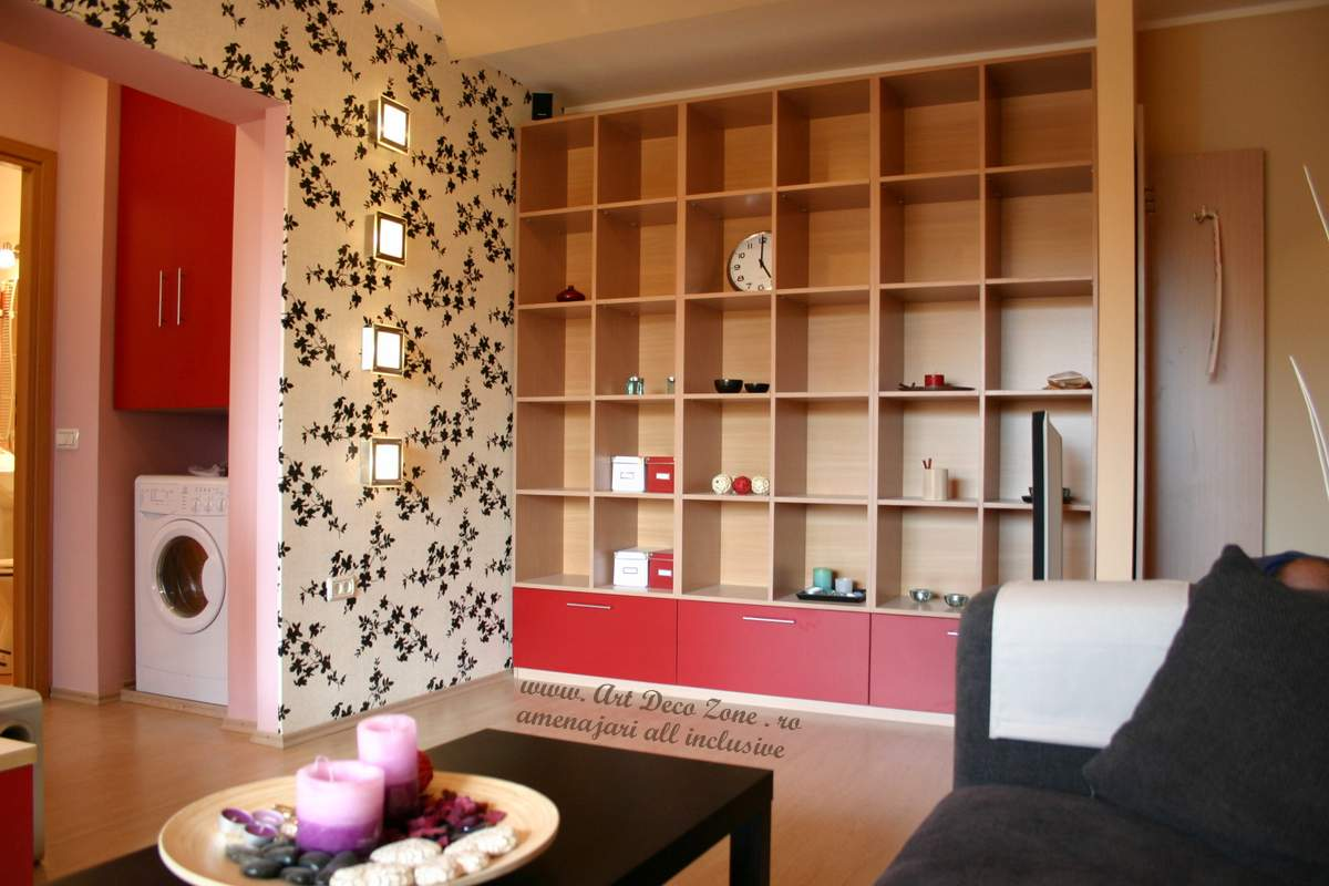 Zona biblioteca pentru apartament la cheie tanara studenta