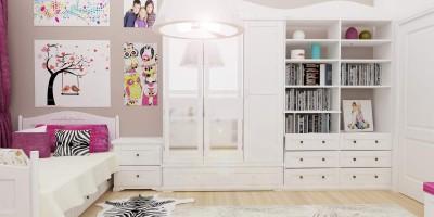 design animal print pentru dormitor copil