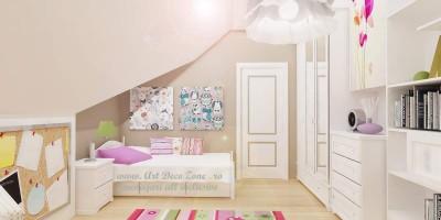 culori pastelate pentru dormitor de copil