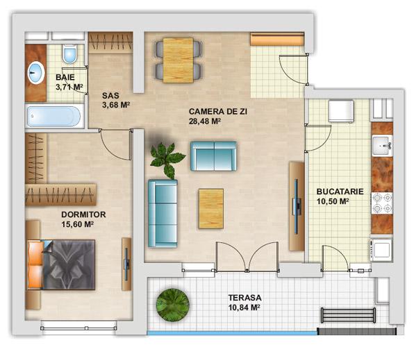 Cat de mare poate fi un apartament mic? Idei de amenajare