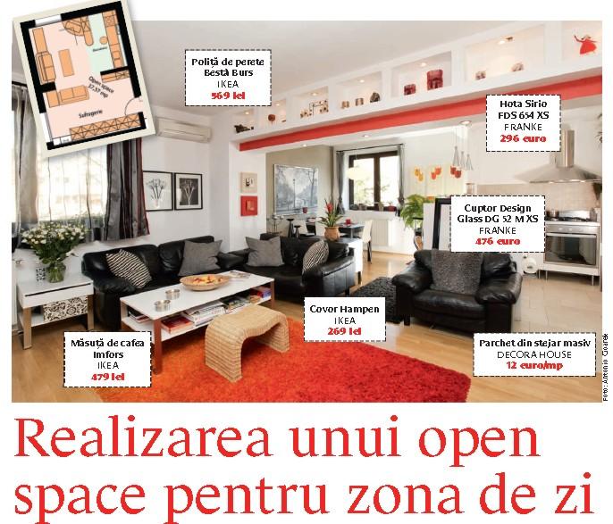 Amenajarea unui open space