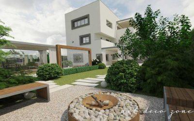 Amenajări exterioare – grădină modernă minimalistă